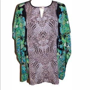 Dana Buchman Women's Blouse Size XL Oversize Tunic